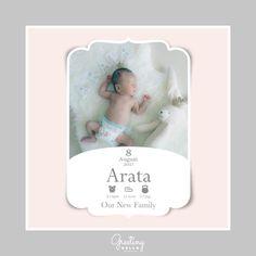 クラシックなフレームの型抜きカードです #baby #new born #新生児 #グリーティングカード #内祝い #お祝い返し #ギフト #赤ちゃん #赤ちゃん誕生 #かわいいカード #型抜きカード #命名書 #出産報告