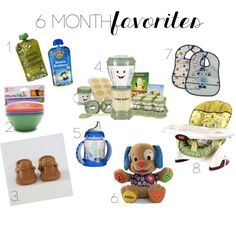 6 month baby must have items!!