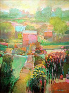 Mark Gould=Acrylic on Panel
