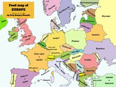 Have you ever wondered what to eat in Europe?Our food map of Europe might help. #food #europe http://www.veryhungrynomads.com/food-map-of-europe/