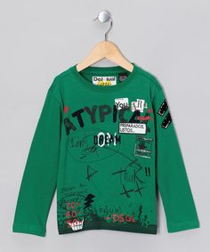 Verde Palencia 'Atypical Dream' Tee - Boys by Desigual Kids    Can be done DIY