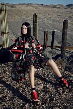 Vogue Italia February 2014 | Guinevere Van Seenus by Emma Summerton  [Editorial] mcqueen