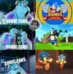 See more 'Sonic the Hedgehog' images on Know Your Meme! Sonic Funny, Sonic 3, Sonic Fan Art, Sonic The Hedgehog, Hedgehog Art, Sonic Fan Characters, Cartoon Characters, Teen Titans Starfire, Sonic Mania