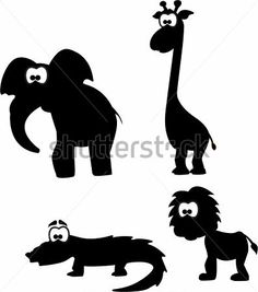 Cartoon Silhouetten Van Dieren clip arts - ClipartLogo.com