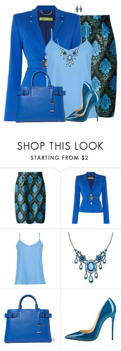 """Blue"" by daiscat ❤ liked on Polyvore featuring Mary Katrantzou, Versace, 1928 and Michael Kors"