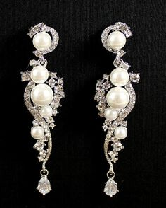 Chandelier Wedding Earrings Crystal Rhinestone and by JamJewels1, $49.00