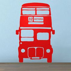 A BIG RED BUS London Bus vinyl wall sticker by Oakdene Designs on Not On The High Street. Choose from 9 colours and the route and destination number can be personalised. Kids Bedroom Dream, Dream Kids, Baby Bedroom, Routemaster, Red Bus, London Bus, Room London, Red Walls, Vinyl Wall Stickers