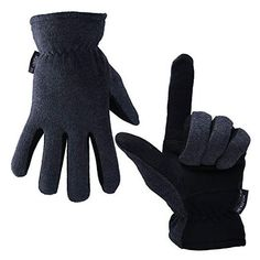 Buy OZERO Winter Gloves, Cold Proof Thermal Glove - Deerskin Suede Leather Palm and Polar Fleece Back with Heatlok Insulated Cotton Layer - Keep Warm in Cold Weather - Denim/Tan/Gray (S/M/L/XL) Fleece Gloves, Mens Gloves, Leather Gloves, Suede Leather, Best Winter Gloves, Insulated Gloves, Cold Weather Gloves, Thing 1, Work Gloves