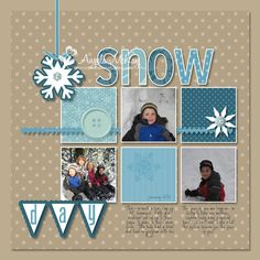 snow day scrapbook page layout