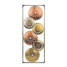 Metallic Circles I Metal Plaque
