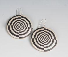 Target Earrings: Louise Fischer Cozzi: Polymer Clay Earrings | Artful Home $110.00