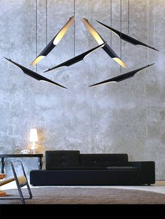 Modern lamps ideas for room design and lighting.