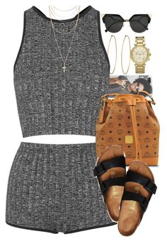 """Untitled #1595"" by power-beauty ❤ liked on Polyvore featuring Social Anarchy, Topshop, MCM, Birkenstock, Forever 21, Fendi and Michael Kors"