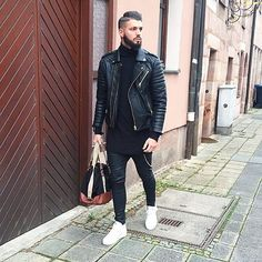 Black is always a good idea.  Leather jacket by @bodaskins  Shoes by @axelarigato  Leather pants by @zara  Bag by @primark  Wish you all a nice evening ✌️ #me #style #fashion #love #tagsforlikes #TagsForLikes #ootd #potd #pictureoftheday #photooftheday #like4like #instadaily #instafashion #instalike #instamood #swag #dope #blackfashion #streetstyle #peace #amazing #webstagram #lookbook #stylebook #outfitpost #whatiwore #axelarigato #bodaskins