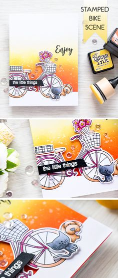 Enjoy the little things - with Simon Says Stamp Beautiful Ride stamp + dies. Detail here http://www.yanasmakula.com/?p=53806