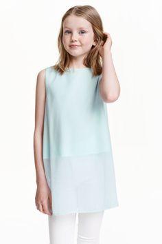 Bluză din șifon fără mâneci | H&M