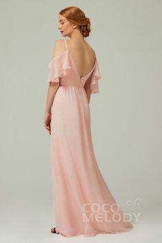 Modern A-Line V-Neck Natural Floor Length Chiffon Sleeveless Zipper Bridesmaid Dress with Split and Ruffles Ruffle Fabric, Ruffles, Puffy Dresses, Short Dresses, Bridesmaid Dresses, Wedding Dresses, Wedding Themes, Dusty Blue, Different Fabrics