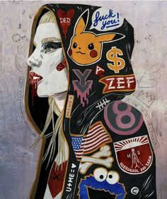 Just keep zefing Graffiti Lettering, Aliens, Game Art, Yolandi Visser, Die Antwoord, Chappie, Pop Art, Japanese Art, Character Design