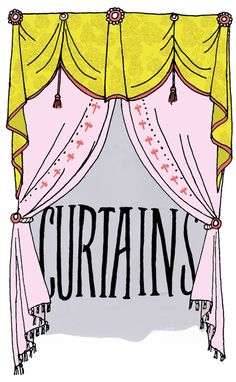I just really enjoy this picture of curtains! What can I say?  - By Julia Rothman