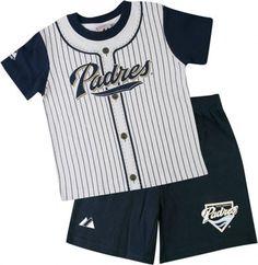 San Diego Padres Toddler Pinstripe Short Set
