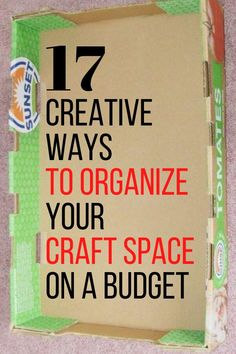 Organize your crafting area with these cheap and quick organization tips and hacks. If you love crafting check out these clever storage hacks. #hometalk Paint Organization, Ribbon Organization, Small Space Organization, Home Organization Hacks, Mason Jar Twine, Funky Junk Interiors, Organize Fabric, Diy Beauty Projects, Homemade Paint