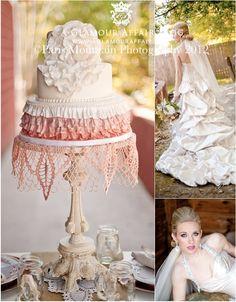 shabby chic love the doily under the cake! Wedding Cake Display, Wedding Cakes, Reception Ideas, Wedding Reception, 1920s Party, Wedding Inspiration, Wedding Ideas, June 22, Barn Weddings