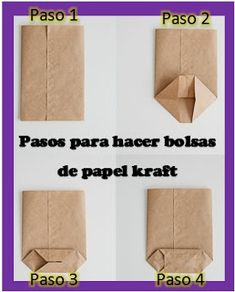 Hacer bolsas con papel kraft Hacer bolsas con papel kraft Forma sencilla de hacer bolsas con papel kraft The post Hacer bolsas con papel kraft appeared first on Berable. Paper Gifts, Diy Paper, Paper Art, Origami, Diy Box, Thanksgiving Crafts, Diy And Crafts, Clay Crafts, Recycled Crafts