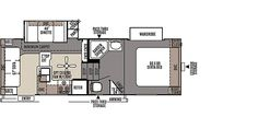 Rockwood Signature Ultra Lite Fifth Wheels / Travel Trailers by Forest River RV 2440WS  6397lb. Unloaded weight, 27'