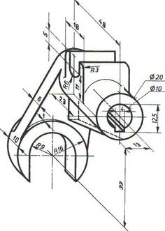 Autocad Isometric Drawing, Isometric Drawing Exercises, Isometric Shapes, Engineering Notes, Mechanical Engineering Design, Mechanical Design, Autocad 3d Modeling, Oblique Drawing, 3d Drawing Techniques