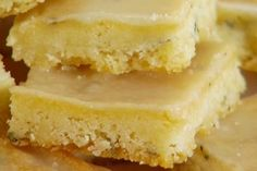 Result: excellent Skill: easy Lemon Thyme Bars recipe from Giada De Laurentiis via Food Network Healthy Dessert Recipes, Delicious Desserts, Yummy Food, Healthy Meals, Healthy Sweets, Diabetic Recipes, Healthy Cooking, Giada De Laurentiis, Food Network Uk
