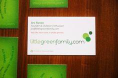 littlegreenfamily.com business card design, printing // Client: Self
