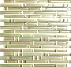 Glass Tile - Mixed Size Strips Bellavita Bamboo Glass Tile Mosaic - BS010 Camel Blend - Glossy * SAMPLE *