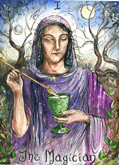 """Veronica Aldous, """"The Magician,"""" ca. 2013. Her """"ambition is to be commissioned for a whole tarot deck."""""""