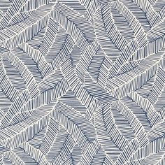 Abstract Leaf | 176222 in Navy | Schumacher Fabric