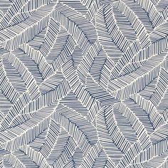 Schumacher - Abstract Leaf in Navy