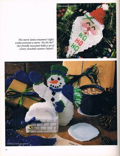 Snowman Coaster Set 1/3