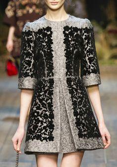 hautekills:  Dolce & Gabbana f/w 2014  Bonjour,nous sommes Katarina et Violeta. Nous adorons la mode