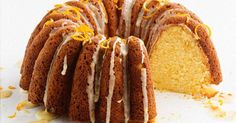 This moist orange and creme fraiche bundt cake makes the perfect afternoon treat.