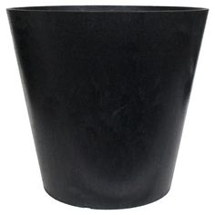 • Choice of sizes<br>• Simple color and shape leaves accent on the plant<br><br>Add some pops of color to your landscape when you grow blooms in the Recycled Round Planter in Black from Smith & Hawken. This classic black flower pot leaves the focus on the colorful blossoms.