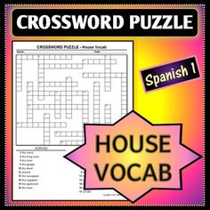 Spanish 1 crossword puzzle for stem changing verb definitions this crossword puzzle is perfect for practicing house and home related vocab there are a total of 21 words on this puzzle including words like living room m4hsunfo