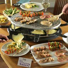 zutaten für raclette als partygerichte