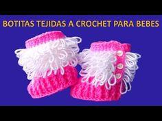 Botitas tejidas a crochet paso a paso para bebe de 0 a 6 meses en punto Bucle y Relieves - YouTube