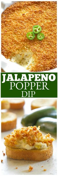 Jalapeno Popper Dip - The Girl Who Ate Everything - Jalapeno Popper Dip – creamy spicy appetizer dip with a crunchy panko topping. Spicy Appetizers, Appetizer Dips, Appetizer Recipes, Dip Recipes, Snack Recipes, Cooking Recipes, Snacks, Bacon Recipes, Cooking Tips