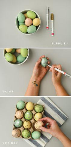 DIY metallic Easter egg