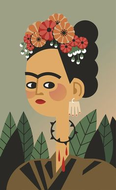 "Frida Kahlo ""Self Portrait"" - Claudia Carieri"