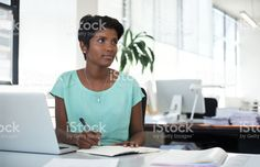 Setting goals and tasks for the workday stock photo 93276967 - iStock