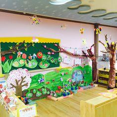 유치원 봄 환경판입니다~~  #roleplay #spring #crafts_for_kids #classroom #display