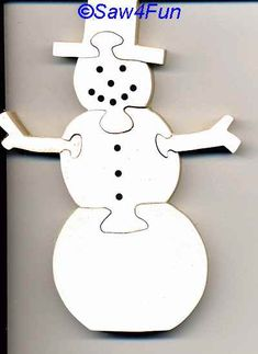 Scroll Saw Patterns to Print | Snowman Puzzle Scroll Saw Pattern