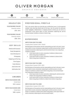 Resume Template Professional Resume Cover Letter 3 Pages
