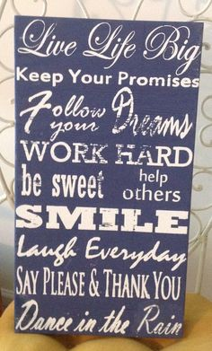 Positive Sayings  Rustic Wooden Wall Panel by CoconutKissSigns, $45.00